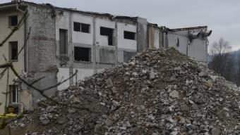 Rückau der alten Papierfabrik in Zwingen