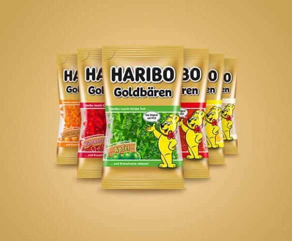 Jede Sorte einzeln verpackt in In 75 Gramm-Säckchen. (© PD/Haribo)