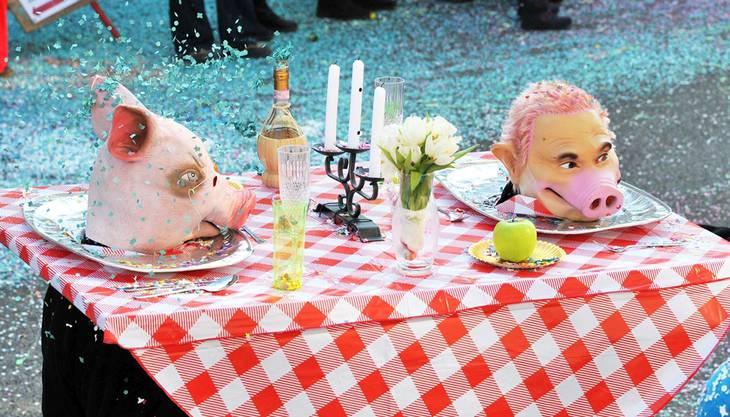 Eine vergessen gegangene Spezialität: Schweinskopf.