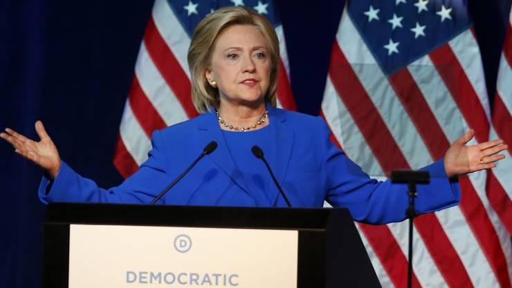 Das US-Aussenministerium hat weitere zehntausende ihrer E-Mails veröffentlicht: Präsidentschaftsanwärterin Hillary Clinton, hier bei einer Parteiveranstaltung.
