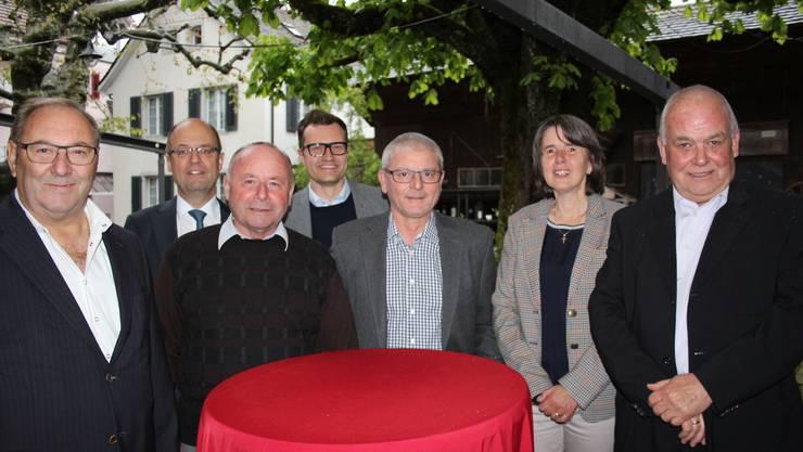 Felix Emmenegger, Thomas Kaiser (Sekretär), Paul Degen, Oliver Kalt,  Toni Mancino (Präsident), Hedy Baumann (Sekretariat), Martin Sollberger