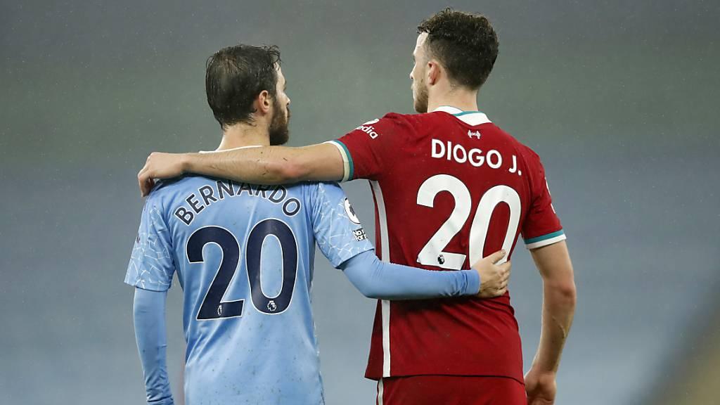 Punkteteilung zwischen Bernardo Silvas Manchester City und Diogo Jotas Liverpool