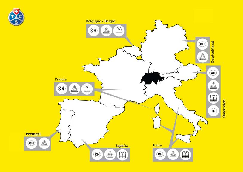 Was muss ich wohin mitnehmen? Diese Karte zeigt es dir. (Grafik: TCS)