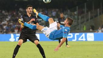 Fliegender Belgier: Dries Mertens schoss gegen Nice das 1:0 für Napoli