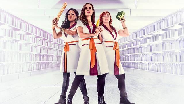Sandra Studer, Fabienne Louves und Gigi Moto – Die Supermarkt Ladies