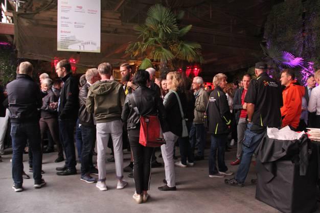 Ausstellerabend mit interner Eröffnung und Rundgang durch die 11. Schenkenberger Gewerbeausstellung (Schega) im neuen Gewerbepark in Schinznach-Dorf.