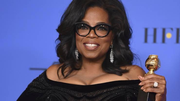 Oprah Winfrey Anfang Jahr bei der Verleihung der Golden Globes, bei der sie sich mit einer brillanten Rede in den Augen vieler als würdig für eine US-Präsidentschaft erwies. Es sei nicht ihr Ehrgeiz, sagte sie jetzt in einem Interview. Sie habe nicht die notwendige DNA für den Job.