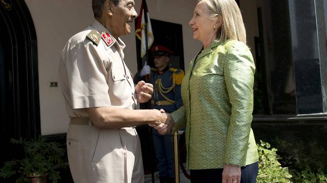 Hillary Clinton mit Mohammed Hussein Tantawi