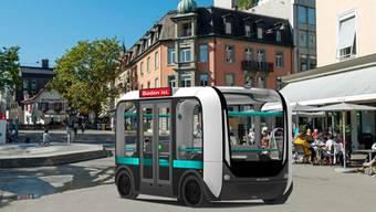 Selbstfahrende Elektrobusse sollen schon 2021 vom Bahnhof ins Bäderquartier fahren.