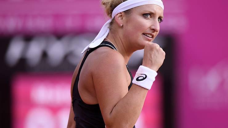 Timea Bacsinszky schaffte endlich ihren ersten Saisonsieg auf der WTA-Tour