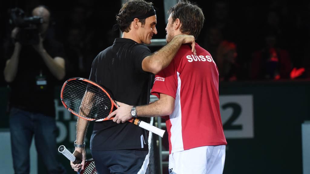 Federer macht den Interview-Crasher