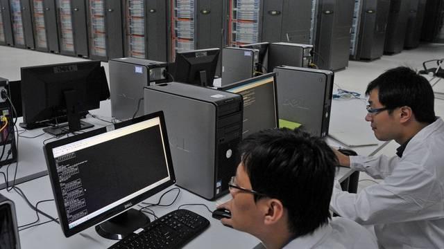 Der gigantische Rechner Tianhe 1A steht in Tianjin