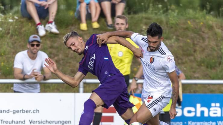 Basels Neuzuzug Omar Alderete im Testspiel gegen Lausanne.