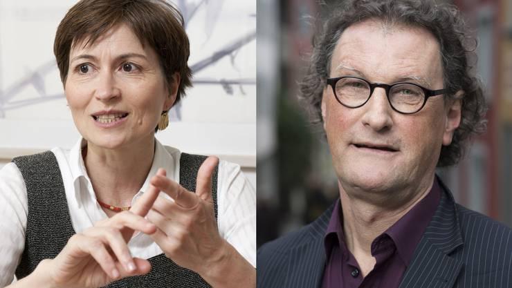 Was macht die Grüne Schweiz-Präsidentin Regula Rytz (l.), wenn sie erstmals wieder auf Geri Müller trifft?