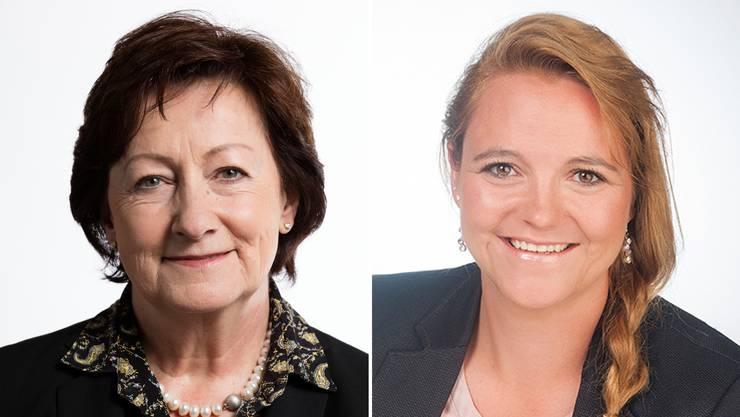 Sylvia Flückiger (links) tritt bei den Nationalratswahlen 2019 nicht mehr an. Stefanie Heimgartner möchte Flückigers Sitz erobern.