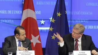 EU-Kommissar Füle (r) und der türkische Europa-Minister Bagis
