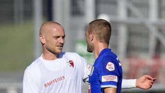 Transfercoup: Marco Schneuwly (links) wechselt ins Brügglifeld zum FC Aarau