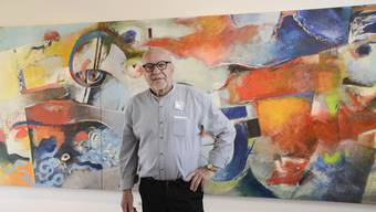 Rudolf Butz zeigt an seiner Jubiläumsausstellung neu auch grossformatige Gemälde.