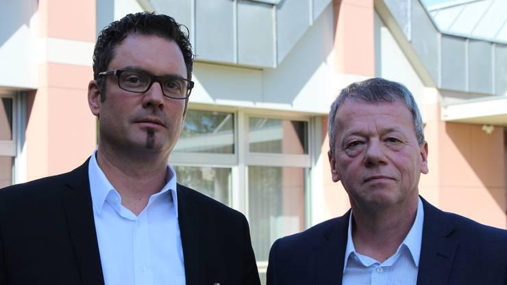 Spitaldirektor Daniel Schibler (links) und Verwaltungsrats-Vizepräsident Thomas Staub.