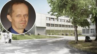 Erweiterungsbau Klinik für Forensische Psychiatrie. Peter Wermuth, Chefarzt und Leiter der Klinik für Forensische Psychiatrie.