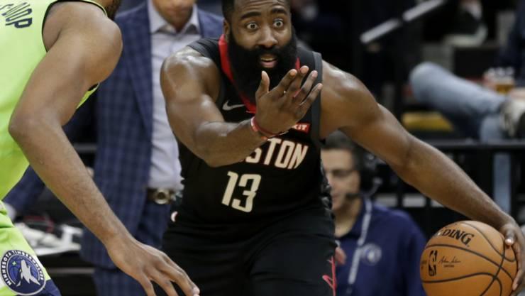 Gegen Minnesota blieb bei den Rockets alles an James Harden hängen