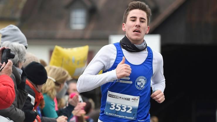 Samuel Keller lief seinen ersten Marathon in 2:30 Stunden.