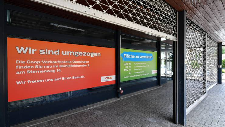 Die ehemalige Coop-Filiale im Sunnehof-Center in Oensingen steht seit Ende April 2015 leer.