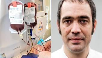 Jörg-Peter Sigle, Chefarzt und Geschäftsführer Stiftung Blutspende SRK Aargau-Solothurn: «Homosexuelle Männer haben als Bevölkerungsgruppe statistisch gesehen ein höheres HIV-Risiko als Heterosexuelle.