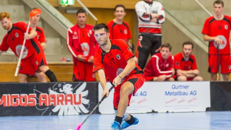 Erzielte gegen Frutigen sein erstes 1. Liga-Tor fürs Team Aarau: Michael Fäs (Bild Fabio Baranzini).