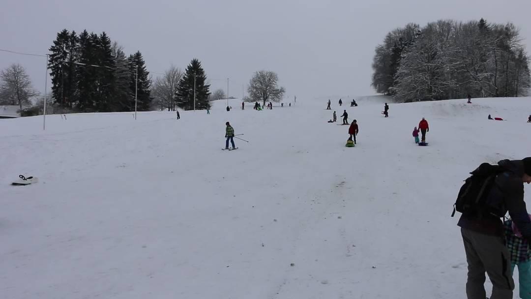 Januar 2015: Dietikon wird dank starkem Schneefall zum Skiparadies