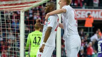 Anthony Modeste (links) war für Köln erneut erfolgreich und ist derzeit der drittbeste Skorer der Bundesliga