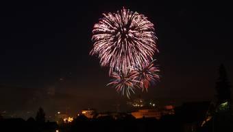 Feuerwerk über der Stadt Olten: Immer wieder schön anzusehen und jedes Jahr ein Publikumsmagnet.