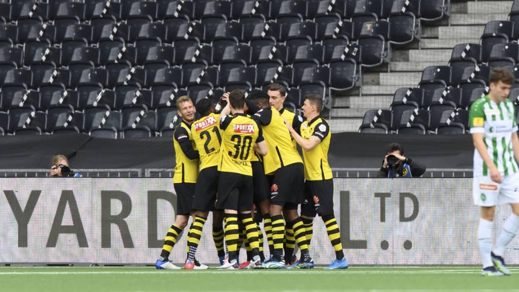 Fast der Meisterjubel: Nach dem Sieg gegen St. Gallen fehlt YB noch ein Erfolg zur Titelverteidigung.