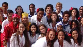 Die Teilnehmer des Europäischen-Jugendchor Festival