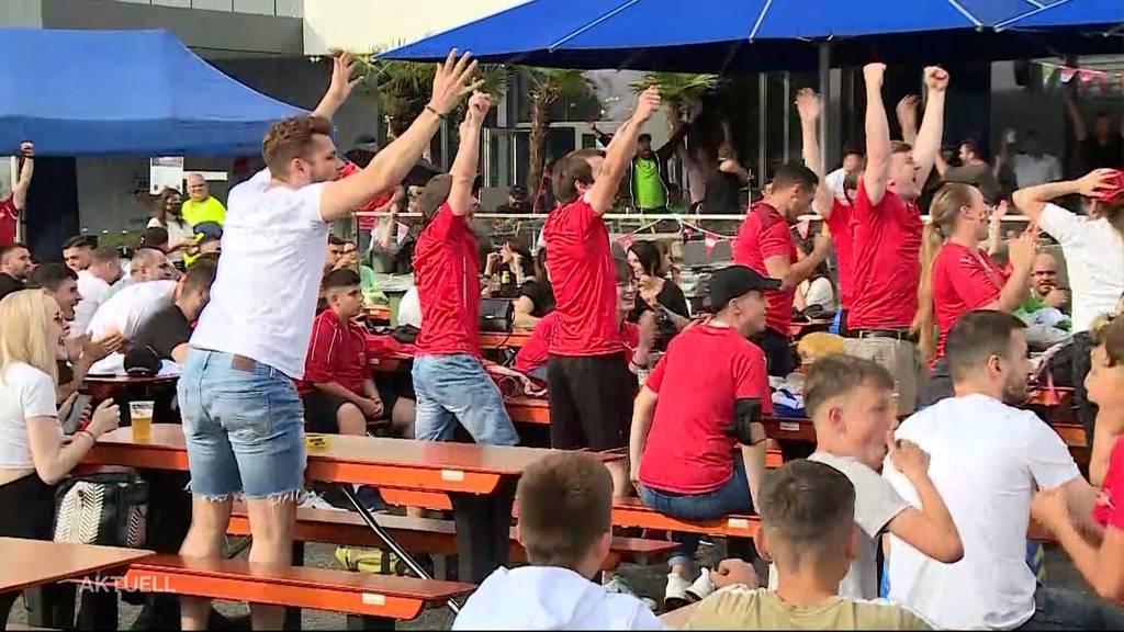 So feierten die Fans den Schweiz-Sieg
