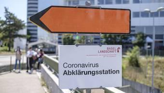 Die Corona-Teststation in Münchenstein wird geschlossen.