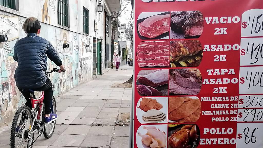 Inflationsrate in Argentinien klettert auf 53,8 Prozent