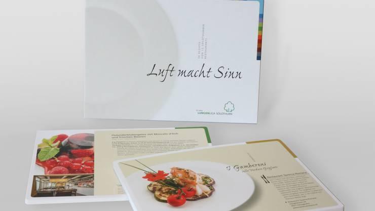 «Luft macht Sinn» - die Sammlung der Lungenliga Solothurn mit 36 Kochrezepten