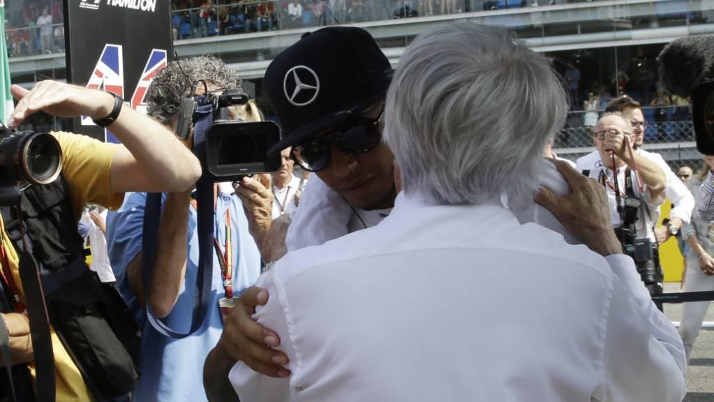 Die Beziehung zwischen Lewis Hamilton und Bernie Ecclestone war schon entspannter als im Moment.