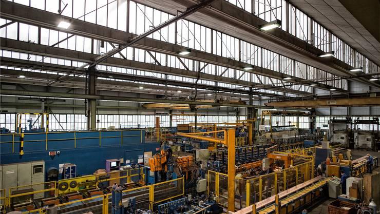 Ein Blick ins Innere des Swissmetal-Werks in Dornach.