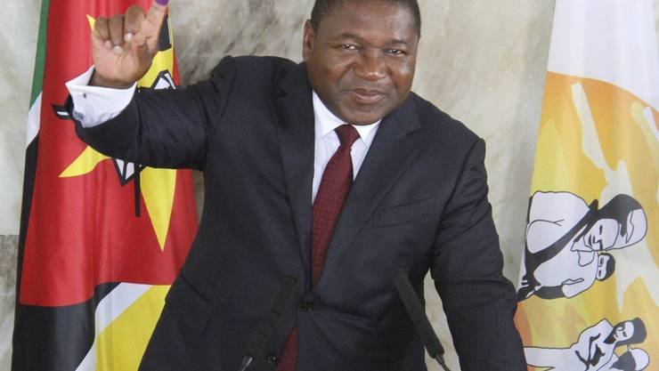 Der Präsident Mosabiks, Felipe Nyusi, hat die Wiederwahl geschafft. (Archivbild)