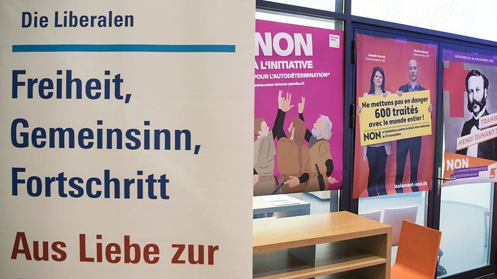 Die FDP hat mit ihrer Klage gegen ein Wahlkampfsujet des Egerkinger Komitees vorerst Erfolg gehabt. (Symbolbild)