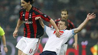 Milan-Stürmer Zlatan Ibrahimovic (links) erzielte das 1:0