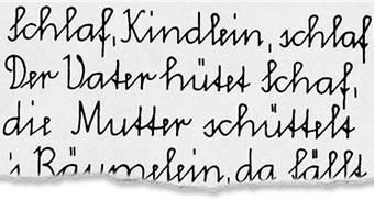 Seit 1947 war das die offizielle Schweizer Schulschrift.
