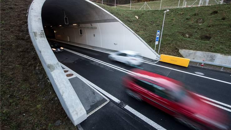 So könnte es in Mellingen dereinst aussehen, falls ein Tunnel käme. Symbolbild KEYSTONE