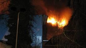 So brannte die Wäscherei-Halle in Suhr