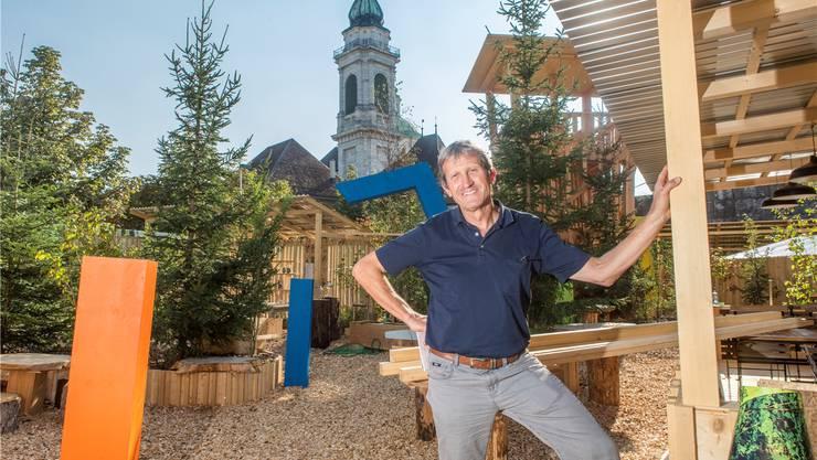 Geri Kaufmann von Kaufmann + Bader GmbH verantwortet die Projektleitung der HESO-Sonderschau «Kraftort Wald».