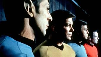 """Der Halb-Vulkanier Mr. Spock (links) war eine der Hauptfiguren der ersten """"Star Trek""""-Serie."""