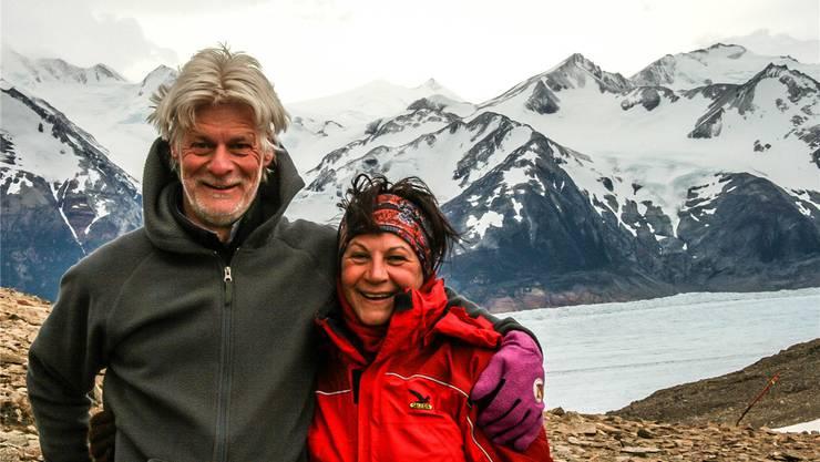 Kurt Notter und Iolanda Lombardi (hier in Patagonien) wollen 2017 mit ihrem Wohnmobil auf eine mehrjährige Weltreise aufbrechen. zvg