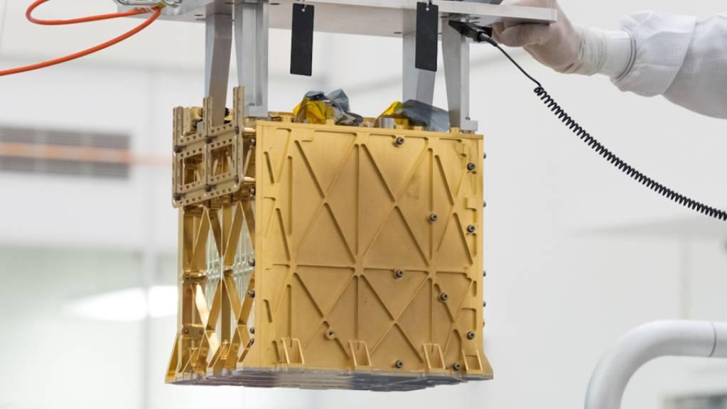 Moxie, das Gerät, das derzeit auf dem Mars CO2 in Sauerstoff umwandelt (Pressebild).